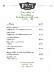 GH TAVOLATO - Essenbestellungen FREITAG-SAMSTAG-SONNTAG